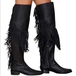SCHUTZ Women's Kin Western fringe Boots